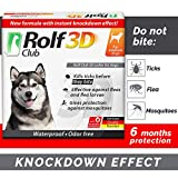 Rolf Club 3D FLEA Collar for Dogs - Flea and Tick Prevention for Dogs - Dog Flea and Tick Control for 6 Months - Safe Tick Repellent - Waterproof Tick Treatment (M)