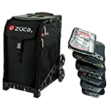 ZUCA Obsidian Sport Insert Bag with Black Frame and Special Set of 5 Packing Pouches + Toiletry Bag Bundle