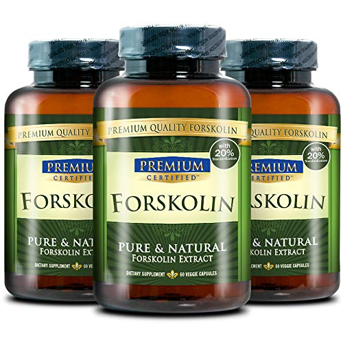 100% Pure Forskolin Premium Extract - 20% Coleus Forskohlii - Natural Weight Loss, Fat Burner and Belly Buster - 360 Veg Capsules (6 Months Supply) 4