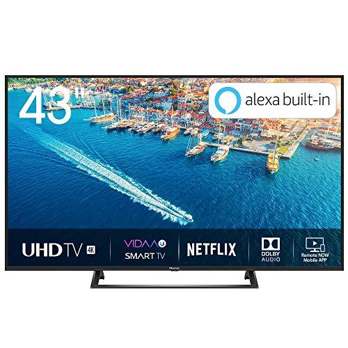 Hisense H43BE7200 Smart TV LED Ultra HD 4K 43', HDR10, Dolby DTS, Single Stand Slim Design, Tuner...
