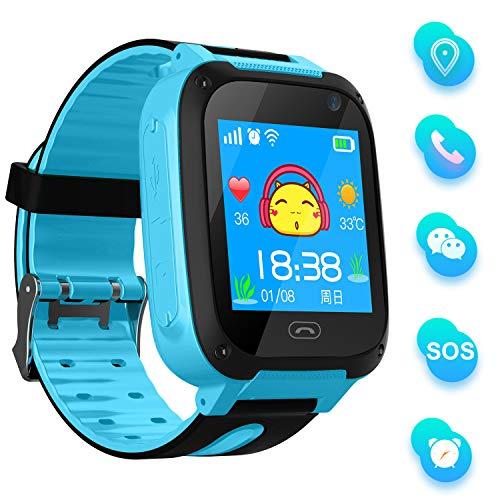 bhdlovely Smartwatch Kinder Telefon Uhr für Kinder mit SOS Voice Chat Kinderuhr...