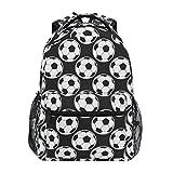 Mochila de fútbol IUBBKI Mochila Negra para niños y niñas Escuela Primaria 2021963