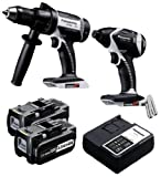 Panasonic EYC159LR Cordless, Battery Powered, Rechargeable 18V Hammer Drill Driver / Impact Driver Combo