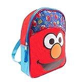 Sesame Street Elmo Toddler Preschool Backpack Set - Bundle Includes Deluxe 11 Inch Sesame Street Elmo Mini Backpack and Stickers (Sesame Street School Supplies)