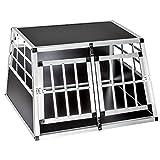 tectake Cage Box Caisse de Transport pour Chien Mobile Aluminium...