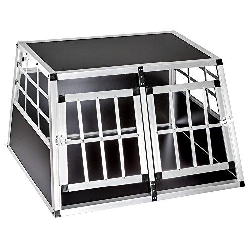 tectake Cage Box Caisse de Transport pour Chien Mobile Aluminium - diverses Tailles au Choix - (Double/Petit | No. 400549)