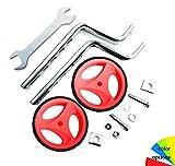 Stabilisateurs universels pour vélo d'enfant, 12-20' Roues Vélo Enfant Training, roues d'entraînement de vélo,roues auxiliaires pour vélo pour enfants, roues d'entraînement pour enfants (red)