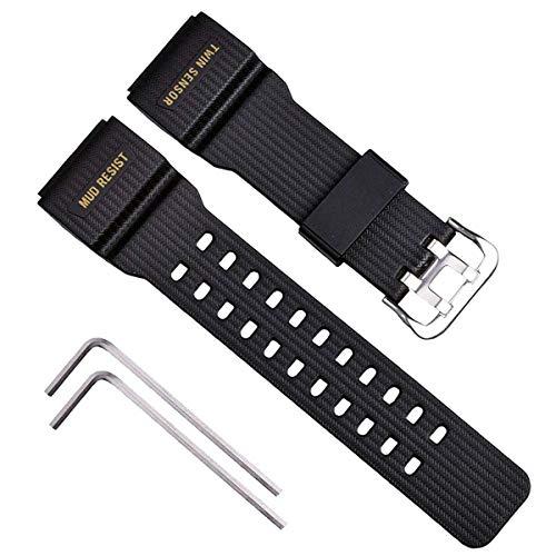 OliBoPo Ersatz-Uhrenarmband für Casio G-Shock Master of G Mudmaster Twin Sensor Sportuhr GG-1000/GWG-100/GSG-100