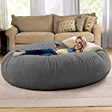 Jaxx 6 Foot Cocoon - Large Bean Bag Chair for Adults, Charcoal