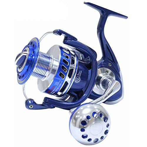 Saltiga Spinning Reels 6000 7000 8000 9000 10000 Heavy Duty Pesca in Mare Fishing Jigging Mulinello da Pesca Drag 30KG,Blue,MX7000