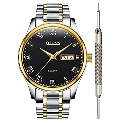 【Fashion and classic style】precisely time running and easy to read the time.Watch have minimalist and elegant design with exquisite workmanship,to stand the test of time,this is the ultimate watch, the best watch for men. At the core of OLEVS is an i...