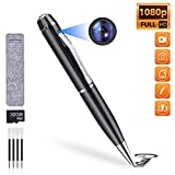 Spy Pen Hidden Camera Pen, HD 1080P Video and Photo Pocket Cam, 32GB SD Memory Card Included, Suitable for Business and Home