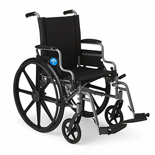 Medline K4 Standard Lightweight Wheelchair with Flip-Back Arms and Swing-Away Footrests
