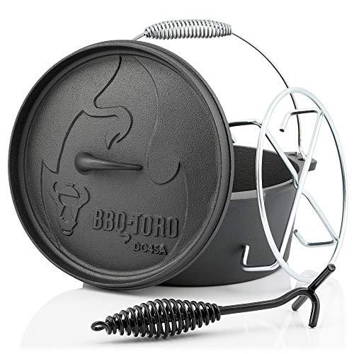 BBQ-Toro forno olandese, serie Alpha Serie, pretrattato, diverse misure, pentola in ghisa con...