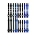 Wolftop 2BA Thread Aluminum Dart Shafts 24 Pack with Rubber O-Rings, Dart Accessories Kit for Steel Tip Darts and Soft Tip Darts