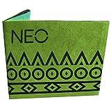 adidas NEO - Cartera de papel (estampado verde)