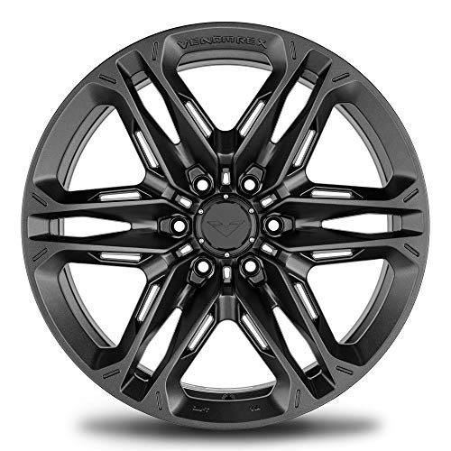 VENOMREX VR-604 20 Inch Flow Forged Wheel Compatible with 09-20 Ford F-150 and Raptor 6x135 Bolt Pattern, 20x9 (+12mm Offset), 87mm Bore, Carbon Graphite - 1 PC
