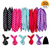 30 Pieces Hair Curler Rollers DIY Night Sleep Foam Hair Styling Tools Flexible Soft Sponge Pillow Hair Rollers with Storage Bag ( 5 Colors)