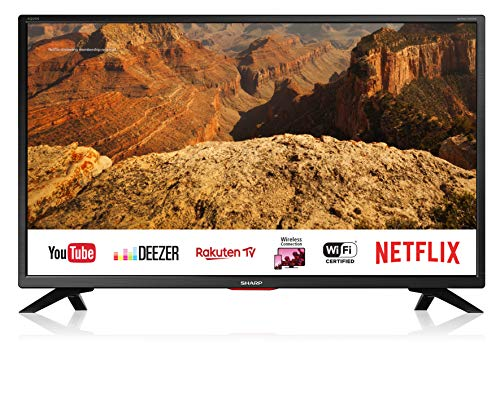 Sharp Aquos LC-32BC5E - 32' Smart TV HD Ready LED TV, Wi-Fi, DVB-T2/S2, 1366 x 768 Pixels, Nero,...