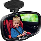 Shatterproof Rearview Baby Car Mirror View Backseat Infant in Front Facing Safety Seat - Adjustable Suction Cup 100% Lifetime Satisfaction Guarantee by COZY GREENS