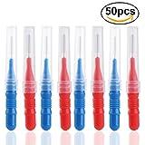 UEETEK 50pcs 2.5mm Oral ortodoncia Dental palillo Interdental entre los dientes del cepillo Kit