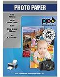 PPD 200 g/m² Inkjet Fotopapier In Profiqualität - Seidenglänzend Satin Mikroporöse Beschichtung Sofort Trocken und Wasserfest, DIN A4 x 100 Blatt PPD-68-100