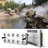 HUKOER 10 Kopf Ultraschall-Nebelmaschine Nebelmaschine,3,5-5 l/h Nebelbefeuchter mit Transformator für Bühnenbeschlag Lebensmittelkonservierung Industrielle Gewächshaushydroponik Garten/Teich