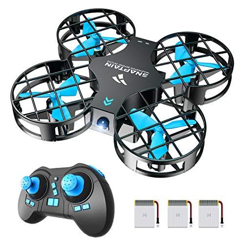 SNAPTAIN H823H Plus Mini Drone per Bambini, Funzione Lancia&Vola, Funzione Hovering, Modalit Senza Testa, Rotazione a 360, Decollo/Atterraggio a Un Pulsante, Velocit Regolabile