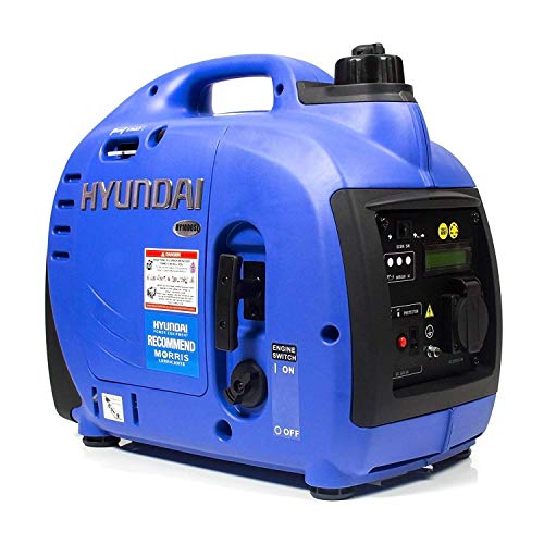 HYUNDAI Inverter-Generator HY1000Si D (tragbarer Benzin Generator, Inverter Stromerzeuger mit 1 kW Maximalleistung und SCHUKO Stecker, Notstromaggregat, Stromaggregat)