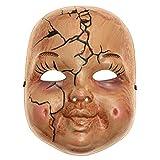 ILOVEMASKS Halloween Scary Horror Baby Face Doll Full Face Costume Mask