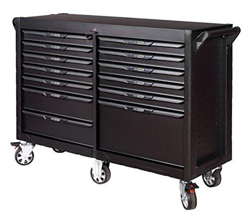 KS Tools 816.0013 - Servante d'atelier 13 tiroirs - Gamme ULTIMATE® - Système de fermeture centralisé par serrure - 6 roues robustes directionnelles Ø 125 mm