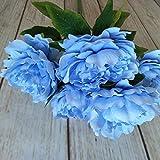 GTUQ Flores Decorativas Artificiales Artificial de Flores de peonía Mesa de la...