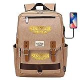 Mochila Impermeable para computadora portátil para Hombres y Mujeres Mochila de Estudio con Puerto USB para Viaje/Aprendizaje Mochila Grande Amarillo