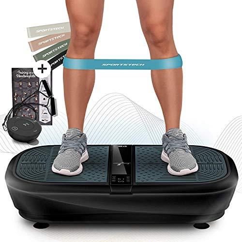 Sportstech 3D Vibrationsplatte VP300   Mega Fett-Verbrenner + 5 Fitness-Bänder Extra   Riesige Fläche...
