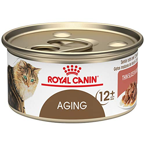 Royal Canin Feline Health Nutrition Aging 12+ Thin Slices In Gravy Canned Cat Food, 3 ounce Can (Pack of 24)