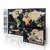 Carte du Monde à gratter + Carte à gratter de l'Europe en Bonus, Très Grand Format - 84 x 57cm,...