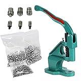 Yaheetech Eyelet Grommet Machine Hand Press Grommet Machine with 3 Die & 1500 Pcs Silver Grommets Heavy Duty Punch Tool Kit