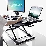 Standing Desk,Big Height Adjustable Standing Desk Converter, 20.1×31.5 Inch Work Area, Fully Assembled (Black)