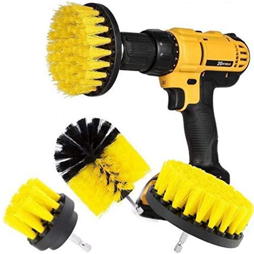 Original Drill Brush 360 Attachments 3 Pack kit Medium- Yellow...