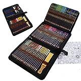 96 Pièces Crayon De Couleurs Professionnel, Crayons de Dessin et Crayons Croquis Art Set,...
