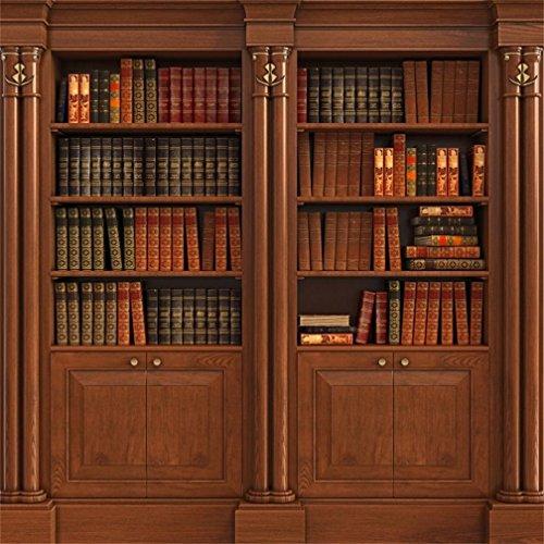 AOFOTO 6x6ft Retro Bookcase Background Book Cabinet Hardcover...