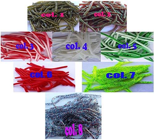 Generico Spaghetti in Silicone vermetti Gomma Esca Artificiali Pesca Trota persico Black Bass Lago Fiume (col.3)