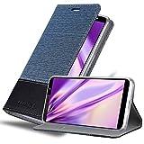 Cadorabo Coque pour HTC U12 Life en Bleu FONCÉ Noir - Housse Protection avec...