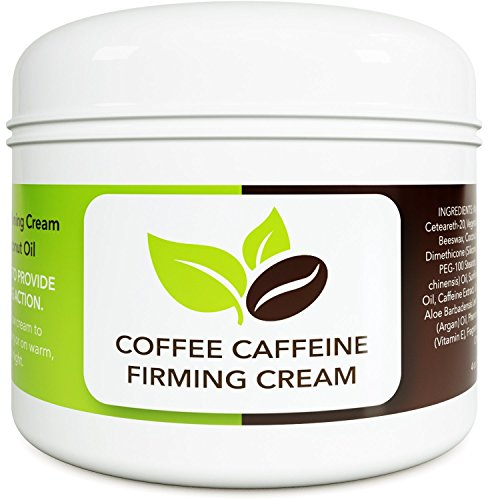 Coconut Cellulite Cream with Caffeine - Natural Stretch Mark Treatment - Best Body Firming and Tightening Cream - Anti Aging Moisturizer for Men and Women - UV Damage Wrinkle Repair