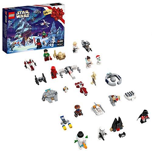 LEGO Star Wars Calendario dell'Avvento 2020, Mini Set di Costruzioni Natalizie con Astronavi e Personaggi Iconici, 75279