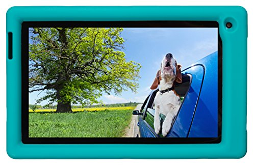 Bobj Rugged Case for RCA Voyager III and Voyager II 7-inch - BobjGear Custom Fit - Patented Venting - Sound Amplification - BobjBounces Kid Friendly (Terrific Turquoise)