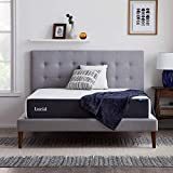 LUCID 10 Inch 2020 Gel Memory Foam Mattress - Medium Plush Feel - CertiPUR-US Certified - Hypoallergenic Bamboo Charcoal - Twin