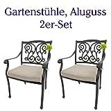 Hanseatisches Im- & Export Contor GmbH Gartenstühle Aluguss 2er-Set