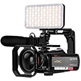 4K Video Camera Camcorder ORDRO AC5 UHD Camcorder with 12x Optical Zoom 3.1' IPS HD 1080P 60FPS...