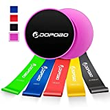 Dopobo 5 Resistance Bands and Double-Sided Gliding Discs for Intense, Low-Impact Exercises